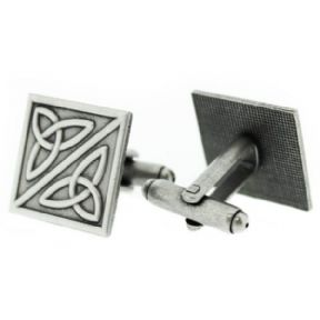 Celtic Trinity Knots Pewter Square Cufflinks 9863